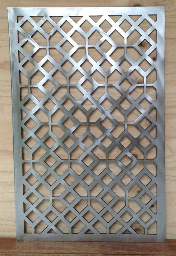 Decorative panel for wall hanging, garden privacy screen or fencing panel with timeless geometric design. The photographed version is made with stainless steel -industrial grade 3CR12- but marine grade stainless, painted finishes or natural rusting are also available upon request.   Creative Metality specialises in custom metal design and construction for home and garden decoration. Each and every one of our designs can be tailored to suit your individual needs, so please contact us for any…