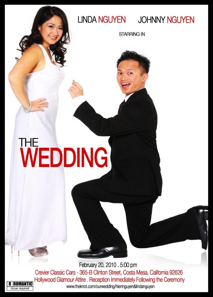 Movie Poster Wedding Invitation I Love This Bergeron Wedding