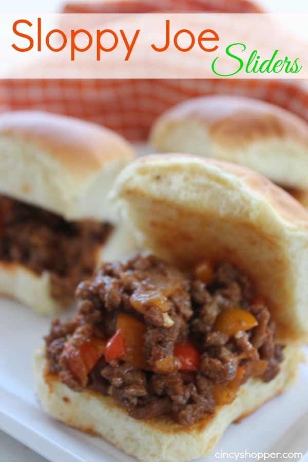 How about some Sloppy Joe Sliders for those New Years guests? Now that Christmas has come and gone it's time to think about the upcoming New Year. I know I