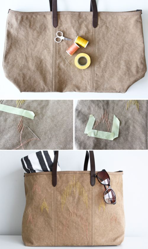 Diy Ikat Beach Bag