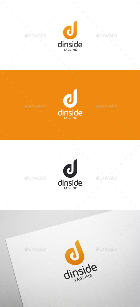 Dinside D Letter - Logo Design Template Vector #logotype Download it here: http://graphicriver.net/item/dinside-d-letter-logo/5635008?s_rank=49?ref=nexion