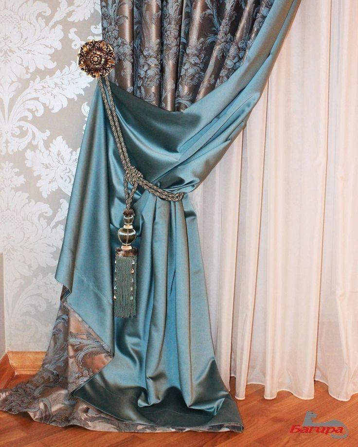 красота в деталях - портьера с подбоем @bagirastyle, #ткани из коллекции #Clara #galleria_arben #жаккард #декорокна