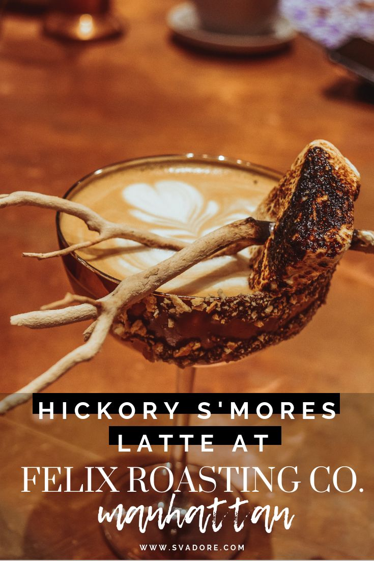This Hickory S'mores Latte Is NYC's Next Big Coffee Drink   – On The Move