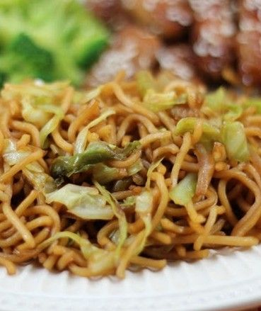 Copycat Panda Express Chow Mein, I know, I know - greasy goodness! It's the only thing I've had from PE that I liked. Maybe I could cut back on the oil a bit?
