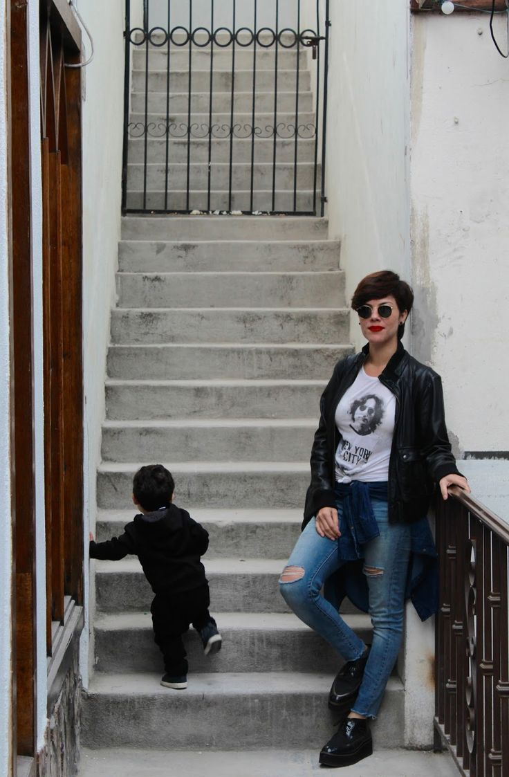 Matching Outfit / Casual Look. - THE APPLE PIE  #CasualLook #leatherjacket #Tijuana #OOTD