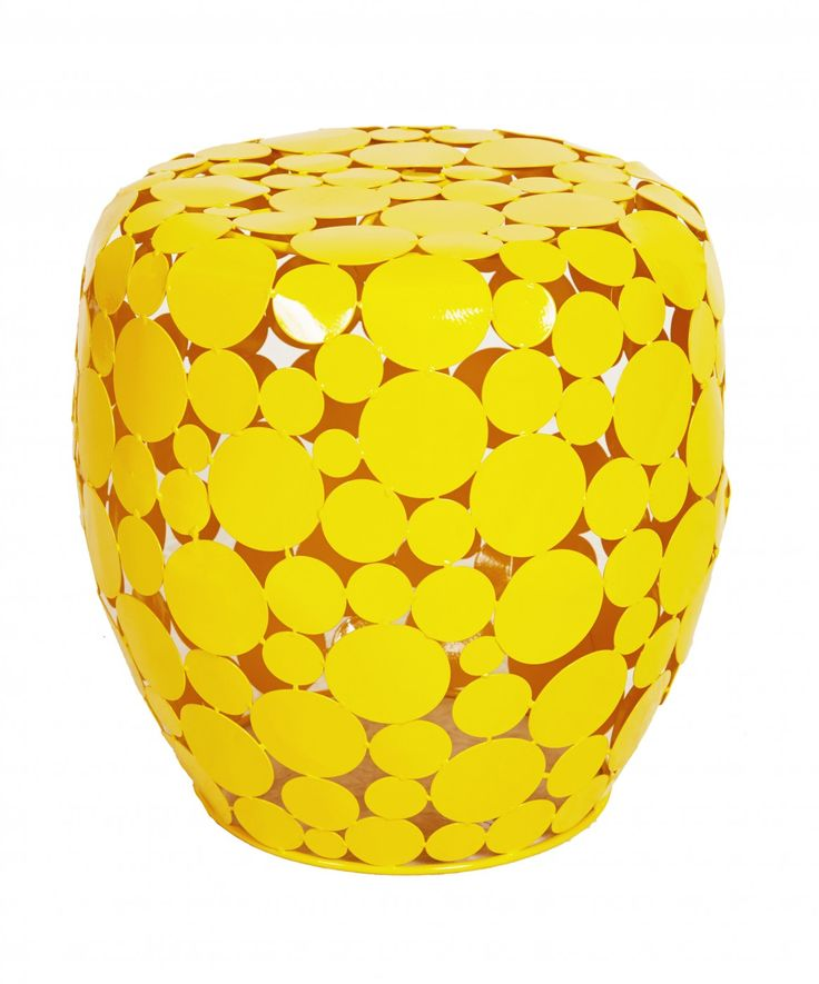 Add a pop of sunny yellow to your decor with the bold retro Goa Disc Stool. Made from steel it punctuates the space with a visual lightness. Mix and match with the extensive Goa Collection to create a colourful and unique story.