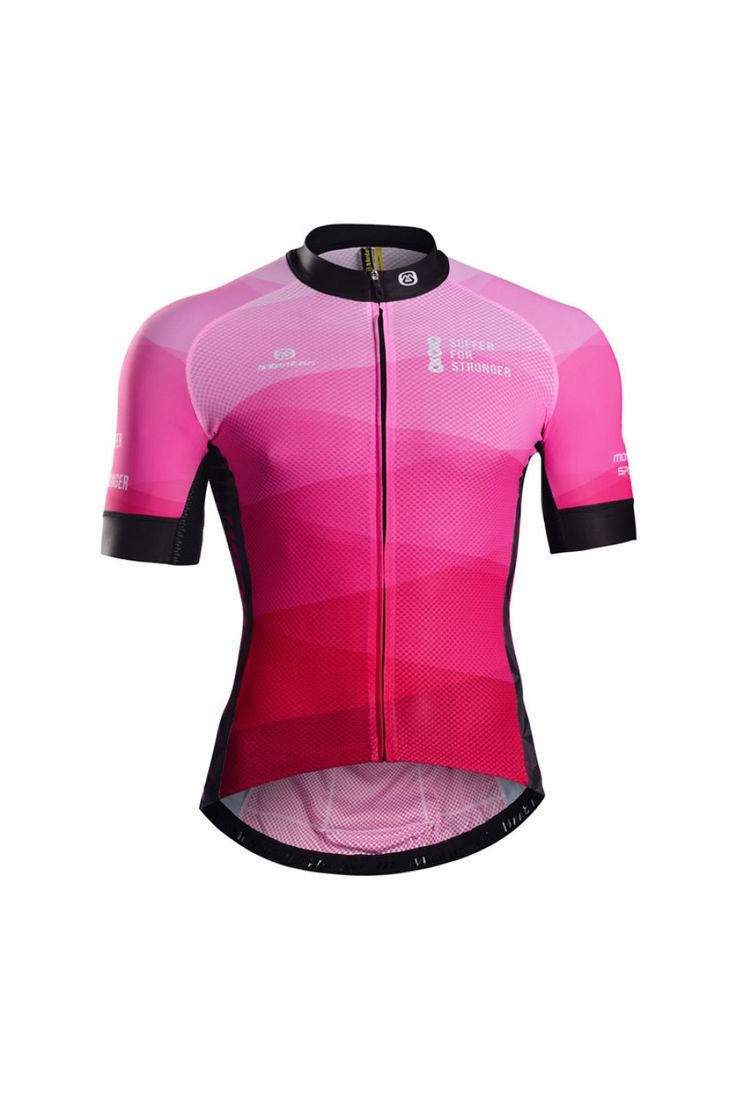 Love this pink cycling jersey!