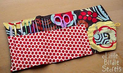 crochet hook organizer: Crochet Needle, Hooks Organizations, Organizations Tutorials, Clutch Tutorial, Birdies Secret, Hooks Clutches, Clutches Tutorials, Crochet Hooks Cases, Crafts
