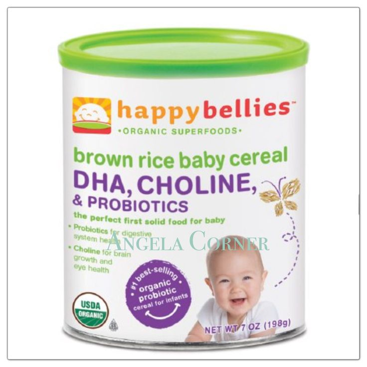 Happy Bellies Organic Superfoods - Brown Rice Baby Cereal 7 Oz (198gr)