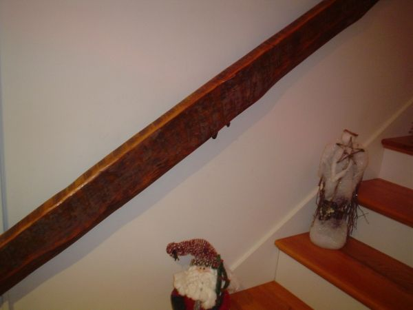 Best Reclaimed Wood Handrail In Rough Sawn Oak For The Home 640 x 480