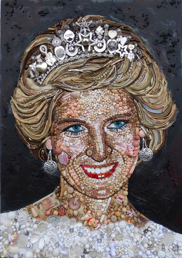 9 Stunning Portraits Made With Found Objects by Jane Perkins