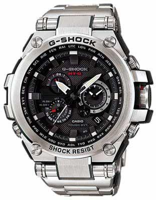Casio G-Shock Solar Triple-G Atomic Watch - Black Dial - Stainless Steel