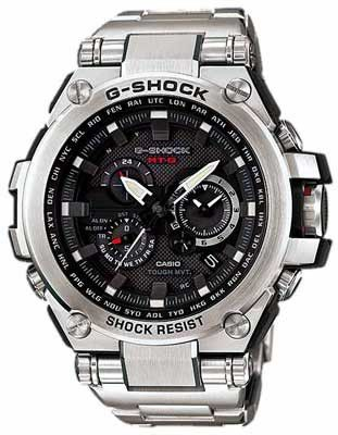 Casio G-Shock Solar Triple-G Atomic Watch - Black Dial - Stainless Steel