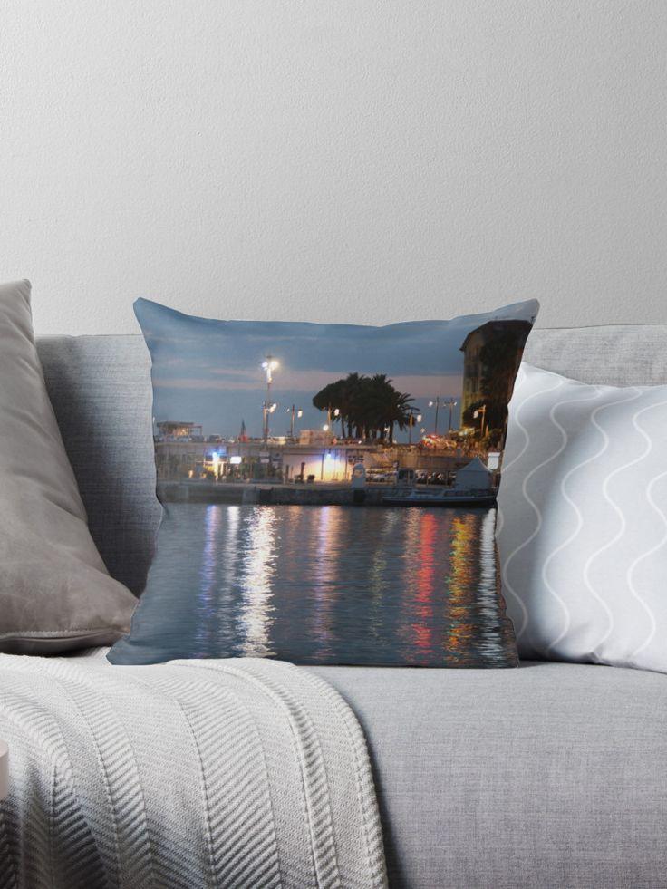 #bag #sac #water #eau #port #harbour #niceislove #Ilovenice #NiceMoments #nissalabella #cotedazur #cotedazurnow #riviera buy online #art #goodies #gift #Kunst #Geschenck #cadeau achetez en ligne ! By w.s.m. #photo #picture Nice et son port Coussin by MuseumBoulevard