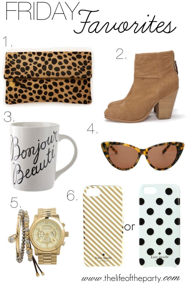 """Friday Favorites"" by thelifeoftheparty on Polyvore"