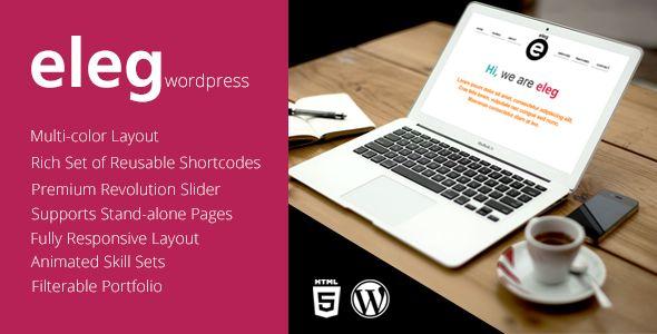 Eleg - Multicolor One Page WordPress Theme  #themeforest