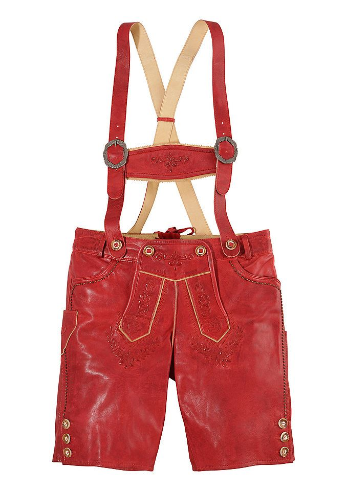 Damen Lederhose aus hochwertigen Ziegenleder. Rock aus, Hosenträger hoch!