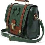 Studs Satchel Bag in Green #handbags