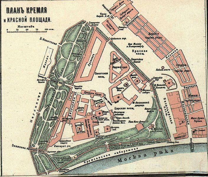 Kremlin Map Map of the Krem...