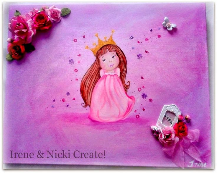Irene & Nicki Create!  :                   Princess Aura Canvas            ...