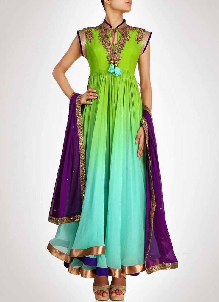 Attractive #Georgette #Anarkali Suit