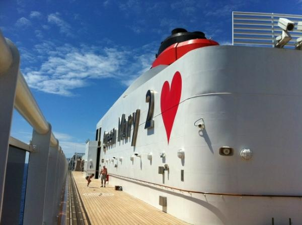 Queen Mary 2 on Valentines Day