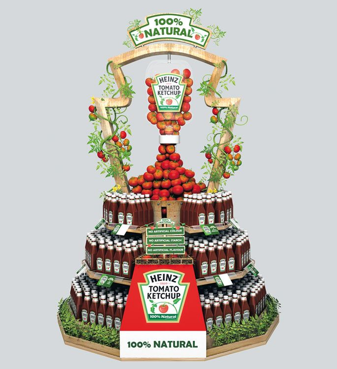 Heinz Goes Natural Stacker Display