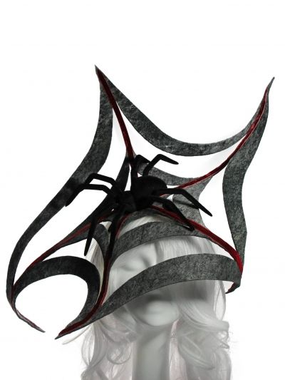 Trick...or treat yourself with one boo-tiful NITA SAO accessory...spiders,bats, devils and cats...they're all ready for a spook-tatulary chic Halloween! #millinery #fashion #designer #fascinators #HouseOfNITASAO