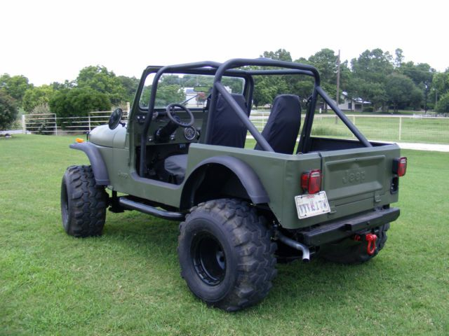 1981 Jeep CJ7 4.2L, Winch, ARB Air Lockers, 35s, Lift, Manual, OD Green for sale: photos, technical specifications, description