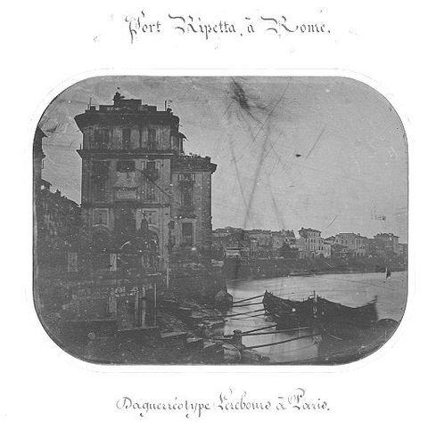 Port Ripetta à Rome 1839 or early 1840s Daguerreotype