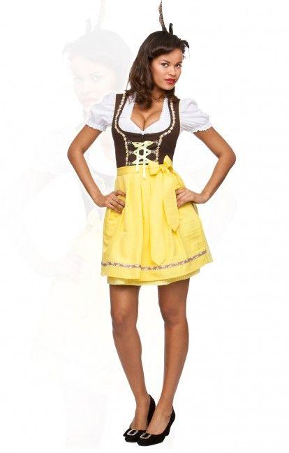 German mini dirndl 2pcs. Judy citrus 50 cm oktoberfest dirndl
