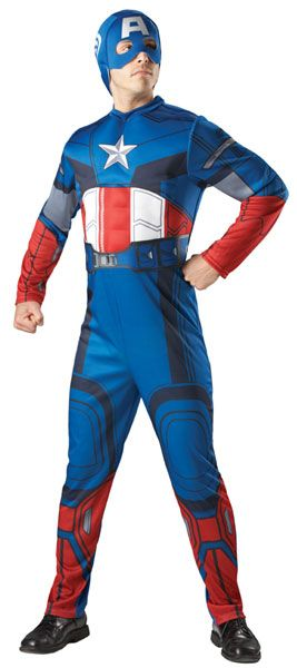 Captain America. Lisensoitu Marvelin Kapteeni Amerikka naamiaisasu.