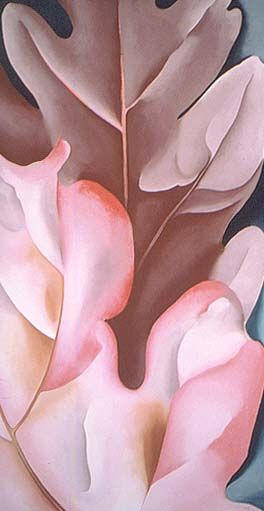 Oak Leaves, Pink and Gray by Georgia O'Keeffe, 1929