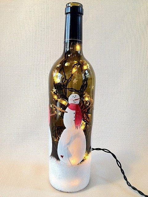 75 best wine bottles images on pinterest wine bottle for Lamps made out of wine bottles