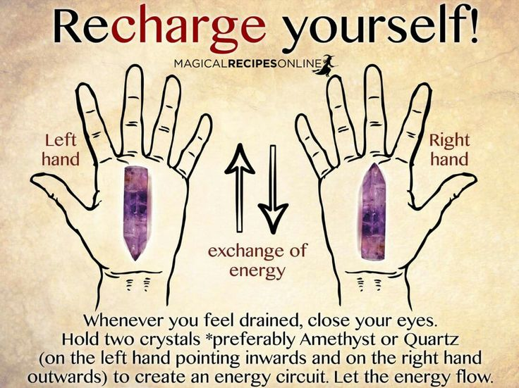 Recharge yourself. Change your life with the Magic of Crystals