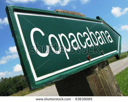Copacabana road sign by Pincasso, via Shutterstock