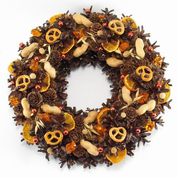 Pinecone Wreath Natural Wreath Christmas Wreath by ZielonePalce