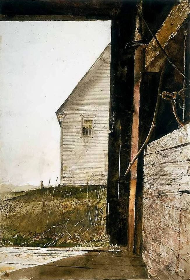 Andrew Wyeth (1917-2009) Olson House by Andrew Wyeth where also Christina's world was painted in this vicinity.