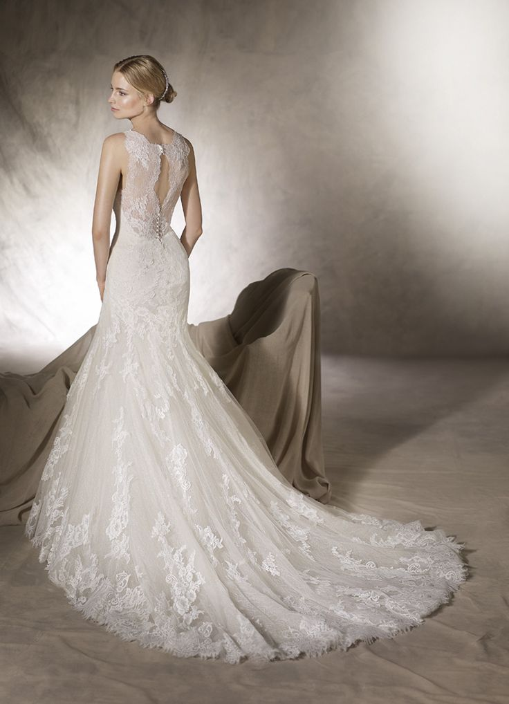 Classy lace back wedding dress from the La Sposa range @ House f Silk Bridal Studio