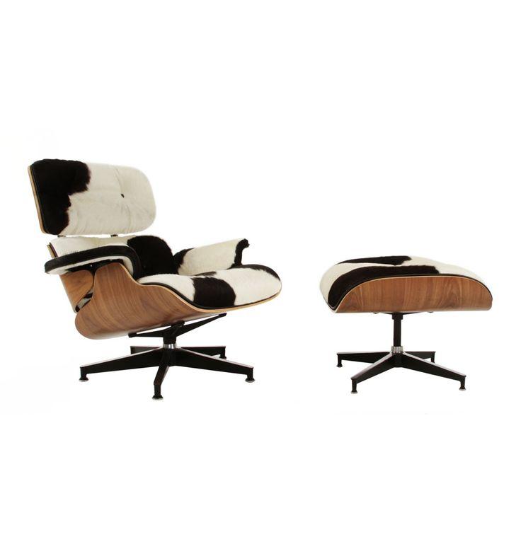 The Matt Blatt Replica Eames Lounge Chair and Ottoman (Cowhide) - Premium Version by Charles and Ray Eames - Matt Blatt