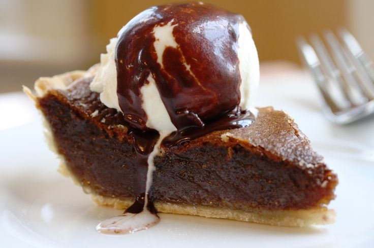 Fudge Pie with a wonderful texture, light chocolate flavor and a filling similar to pecan pie without the pecans! Very easy to make too!