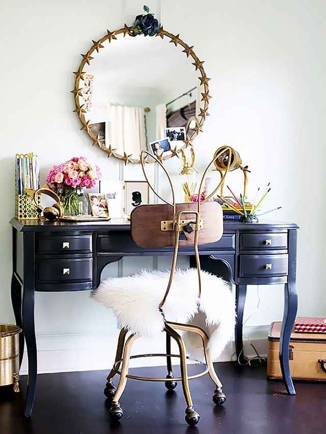 Designed by Emily Current and Meritt Elliott, Jessica Alba's daughter's room features standout pieces from the designers'  PBteen collection. Gilded accessories and whimsical...
