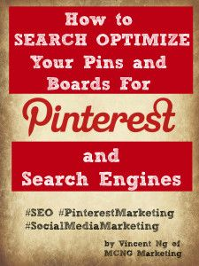 How to search optimize your pins and boards for #Pinterest
