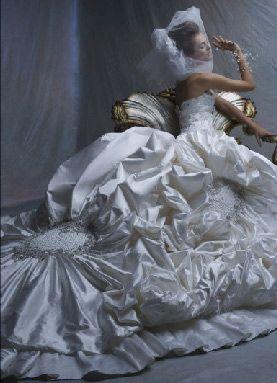 Donald Trump's third wife Melania bridal gown