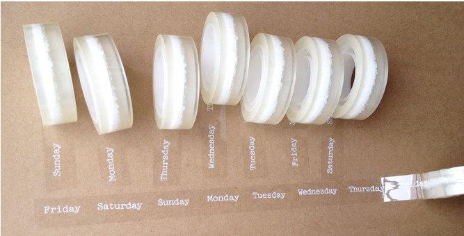 1 Rolls Adornment Translucent Narrow Sticke Decoration Masking Tape. $3.30, via Etsy.