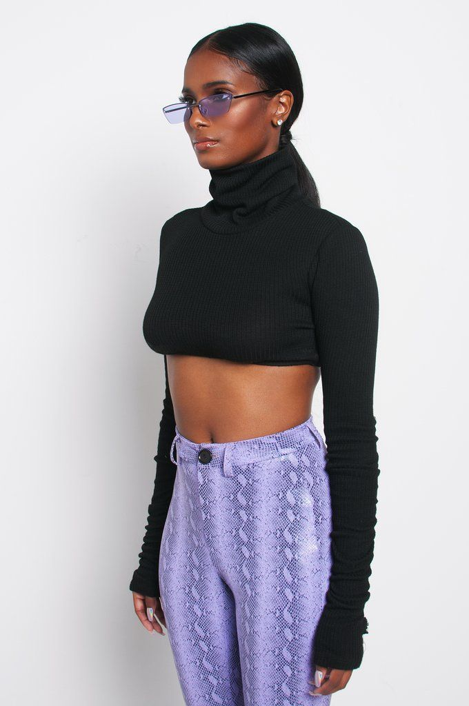 003c57229cd BLACK CHROMO CROP SWEATER Kloset Envy exclusive Chroma Skin Collection