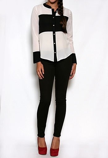 Black and white = always classic. Love it with red pumps too!
