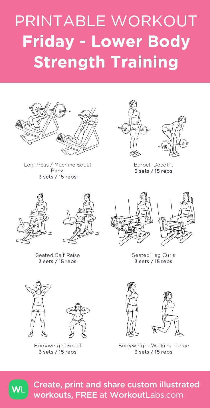 95 best images about Printable Workouts on Pinterest   Lower ...