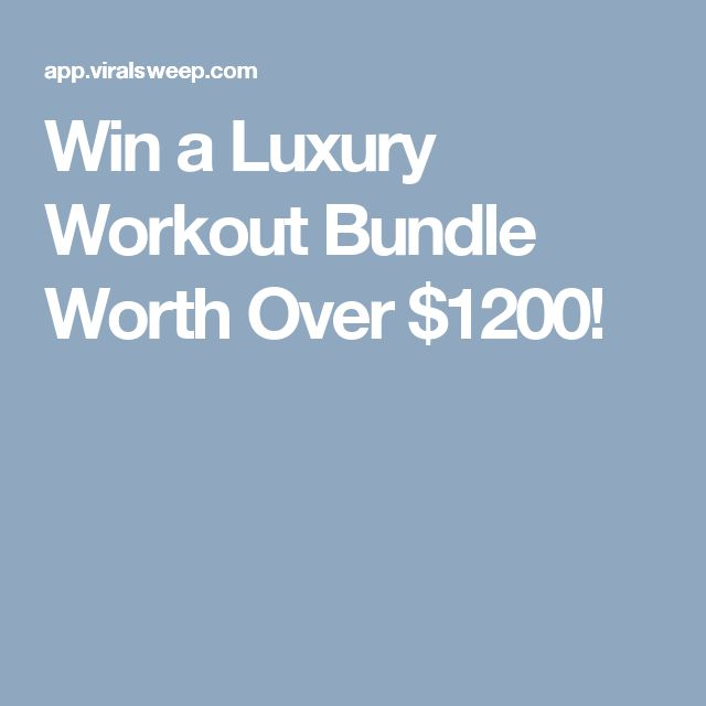 Win a Luxury Workout Bundle Worth Over $1200!