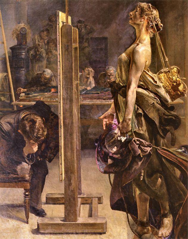 Jacek Malczewski - Natchnienie malarza, 1897